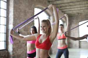 three women s doing exercises